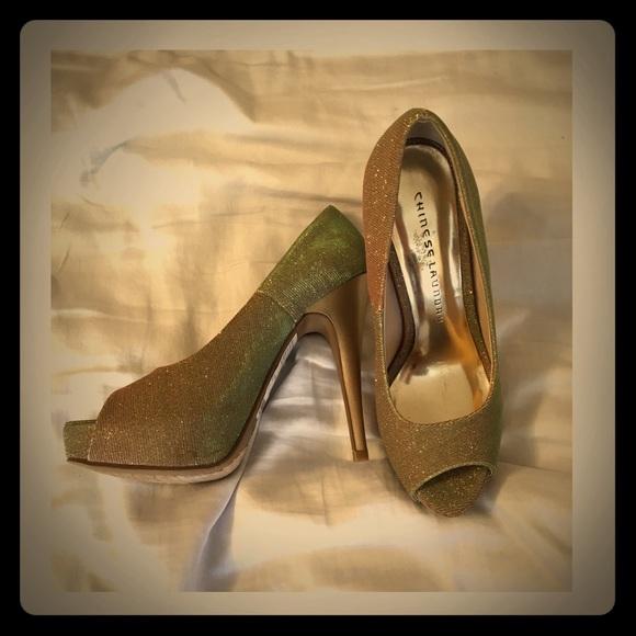 702aac24ad Macy's Shoes | Gold Macys Heels | Poshmark